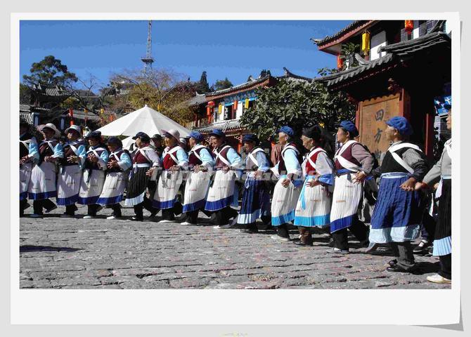 People Dance at Lijiang Ancient City