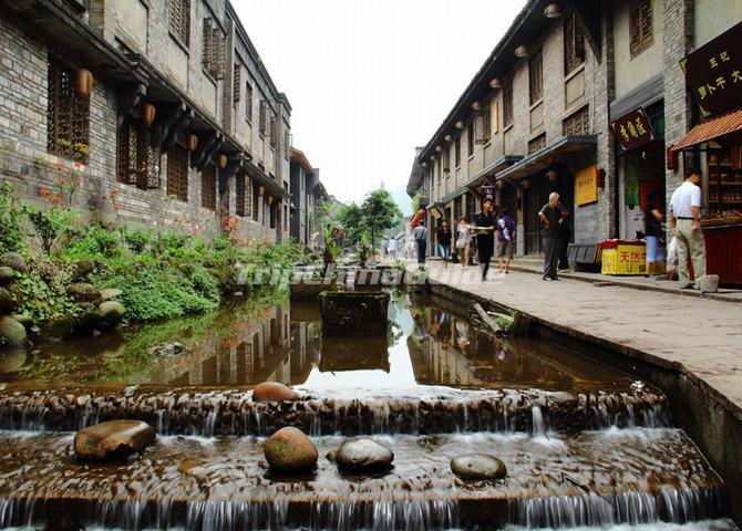 Liujiang Ancient Town Attractive Building Sichuan