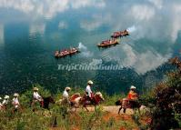 Riding at Lugu Lake Lijiang