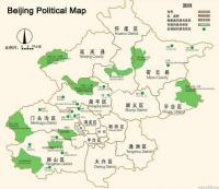 Beijing Political Map
