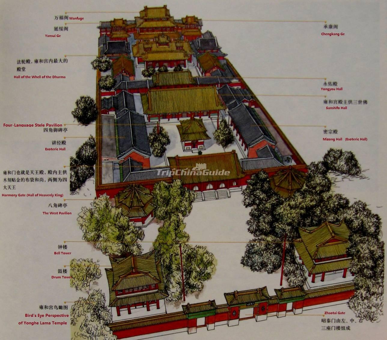Yonghe Temple Beijing Map   Maps of Beijing