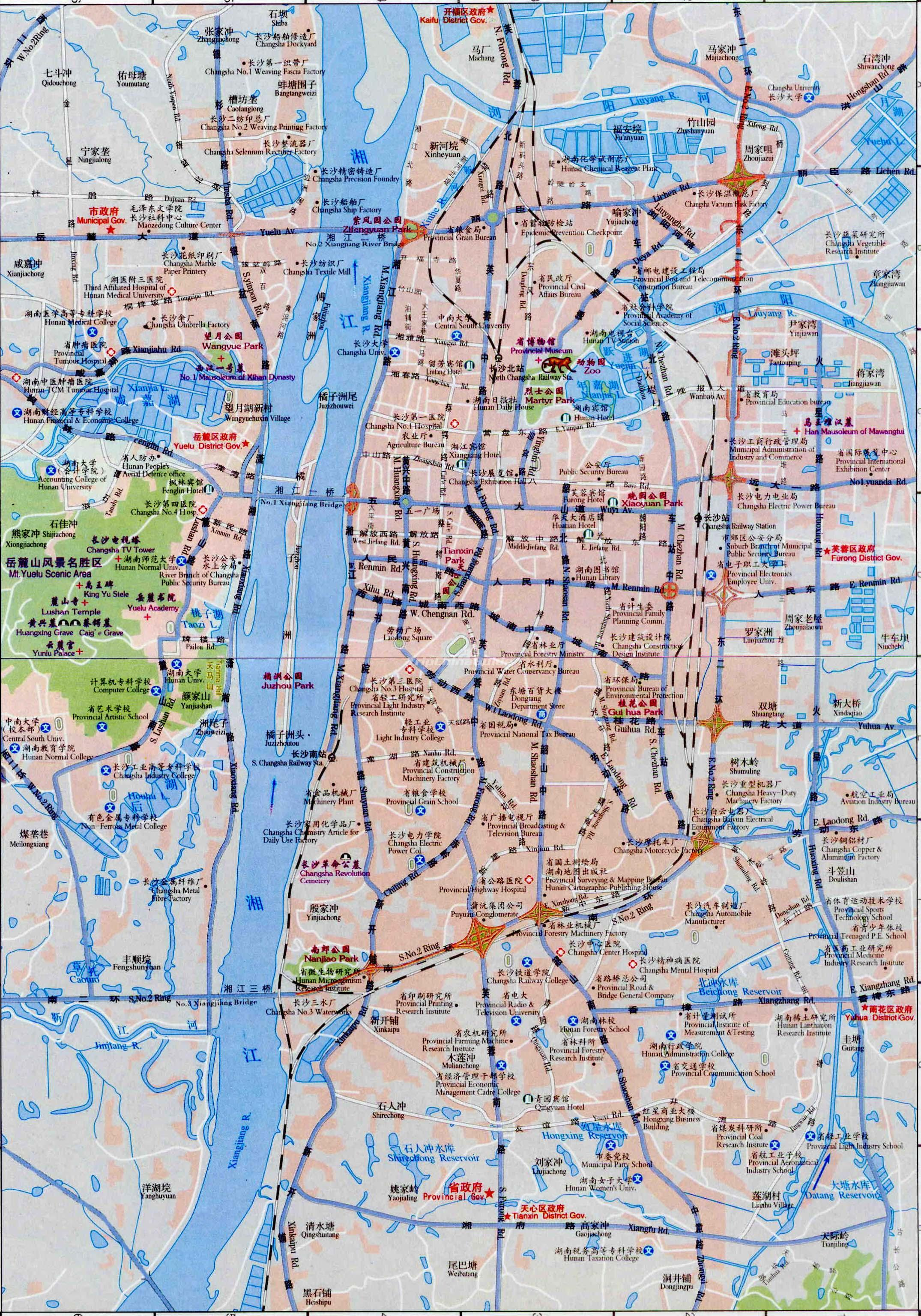 Changsha China Map