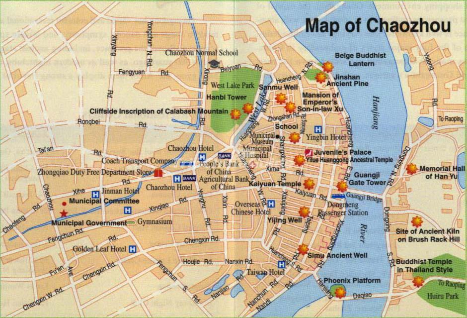 Chaozhou China Map