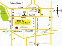 Chengdu Sam's Guesthouse Map