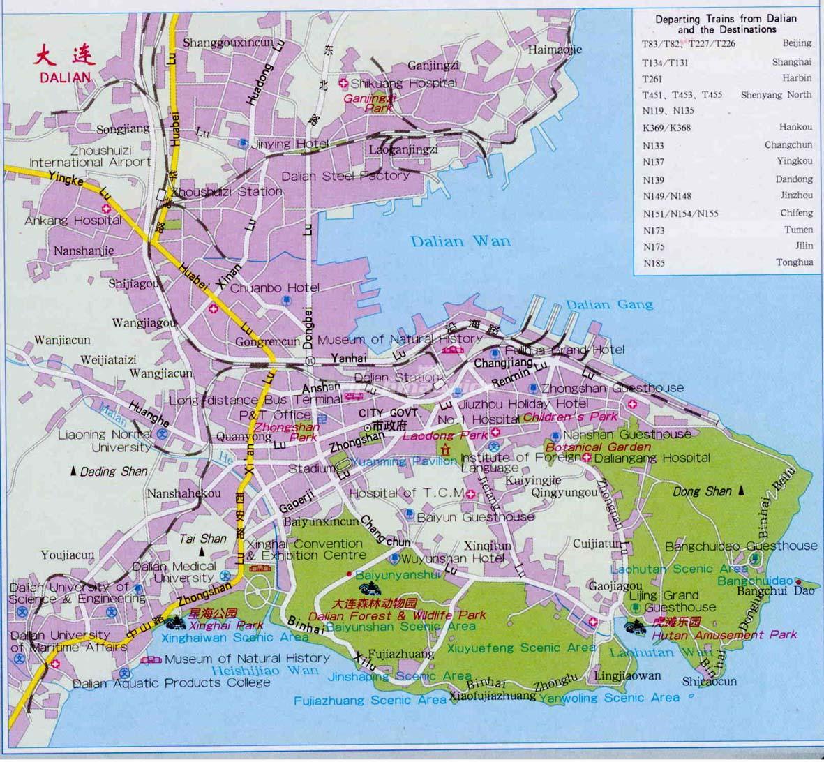 Dalian China Map - Maps of Dalian on