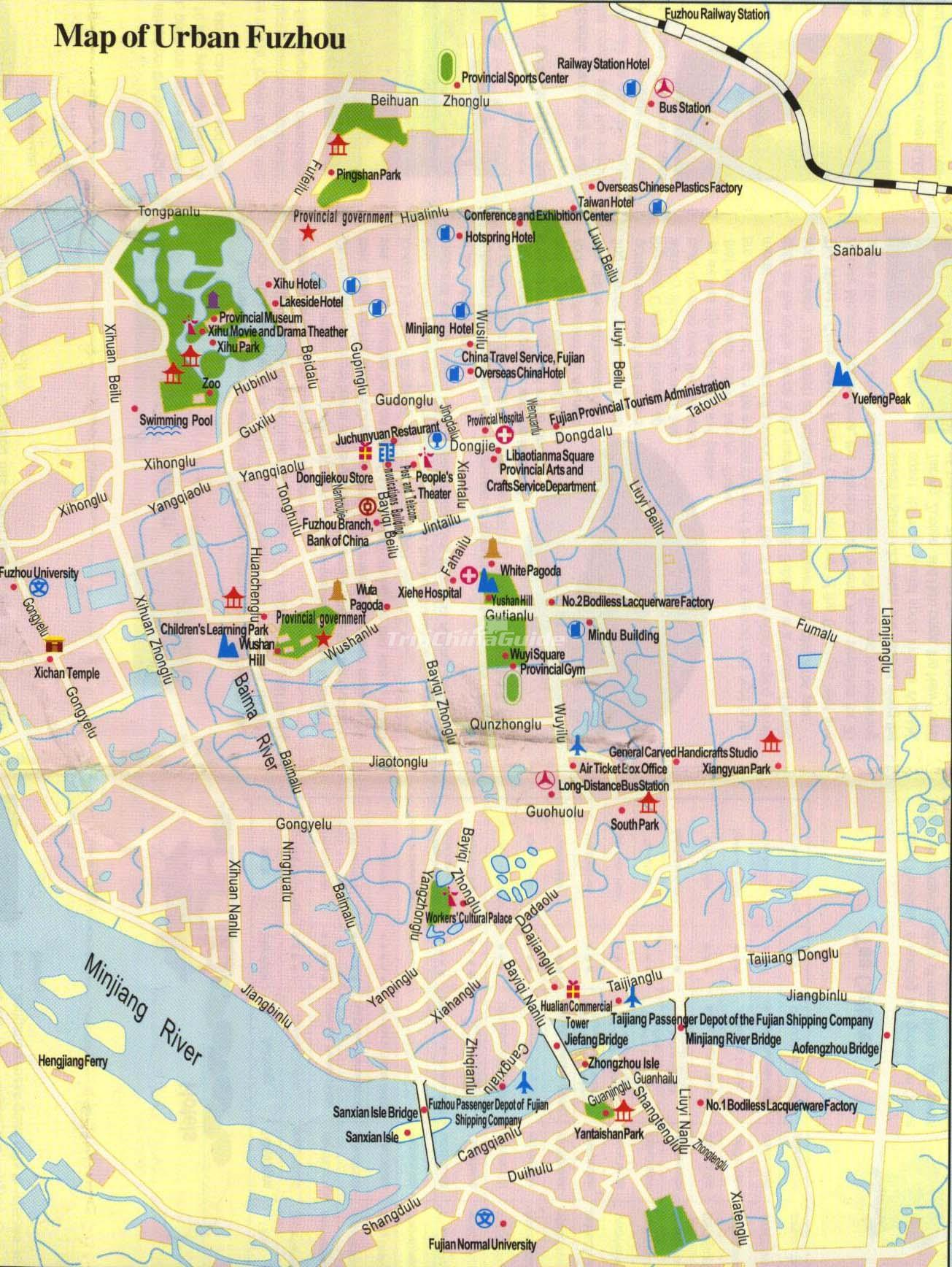 Fuzhou Tourist Map