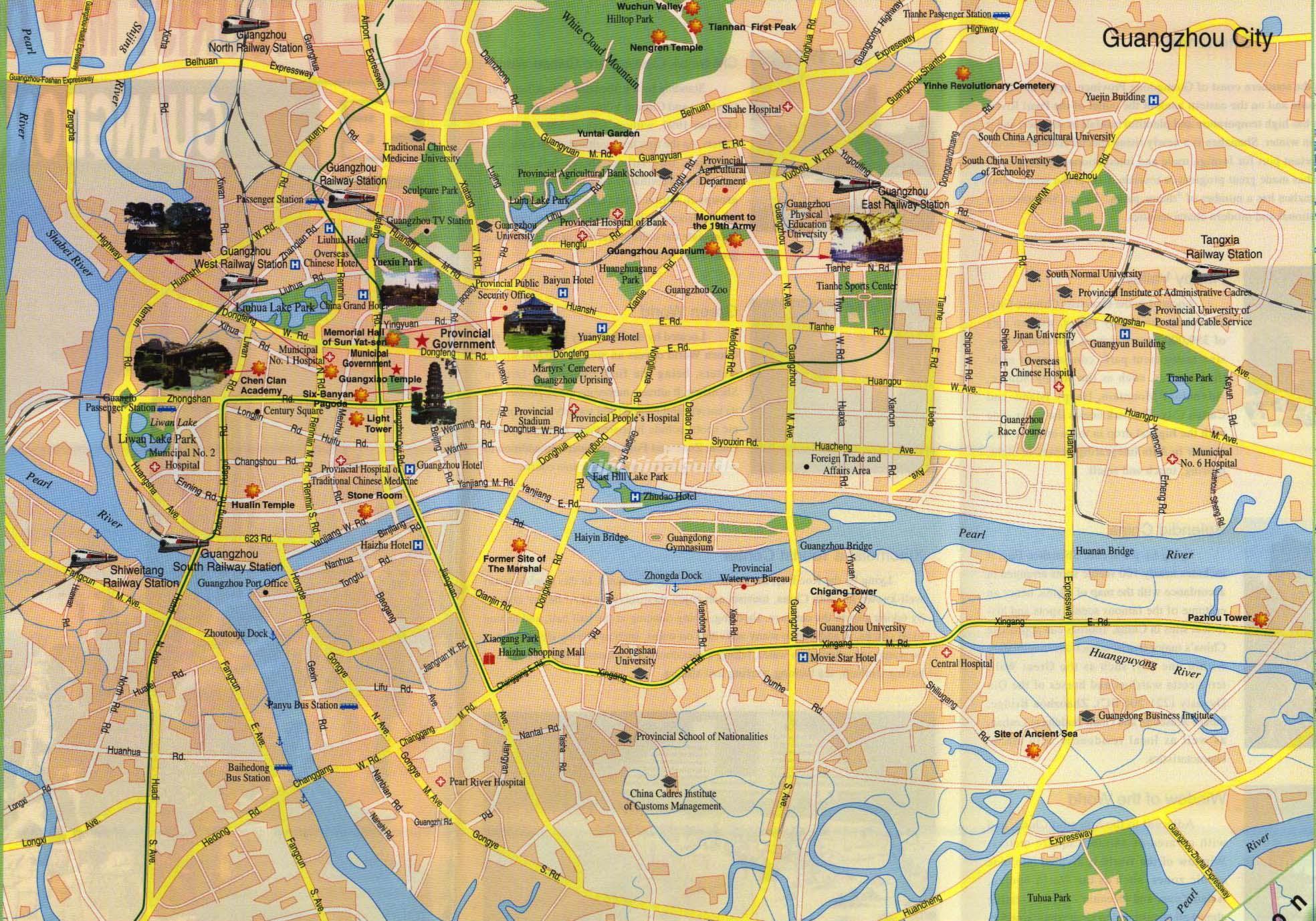 Tourist Map Of Guangzhou Maps Of Guangzhou - Guangzhou map