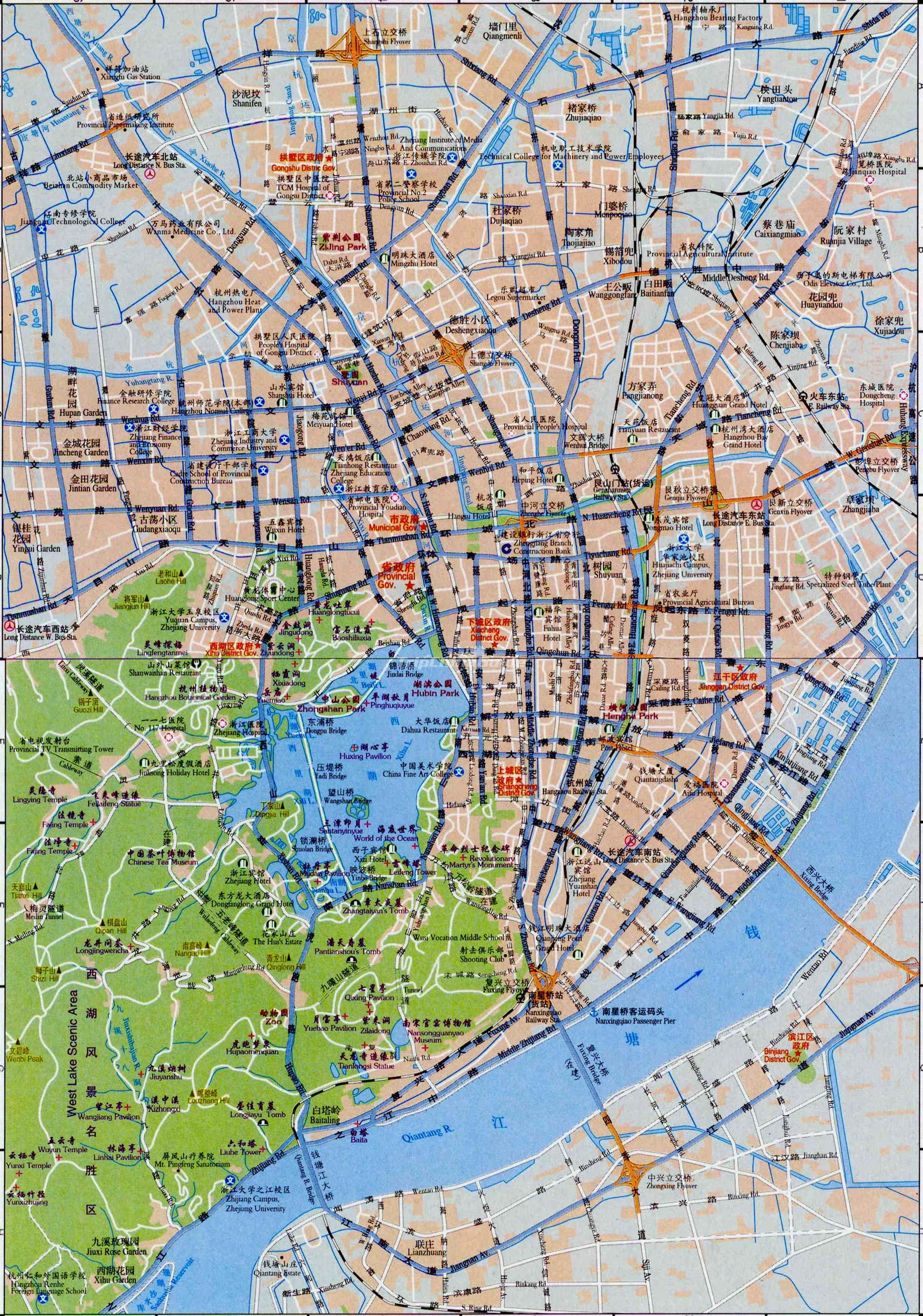 Hangzhou China  city photos : Hangzhou Maps China Map Pictures