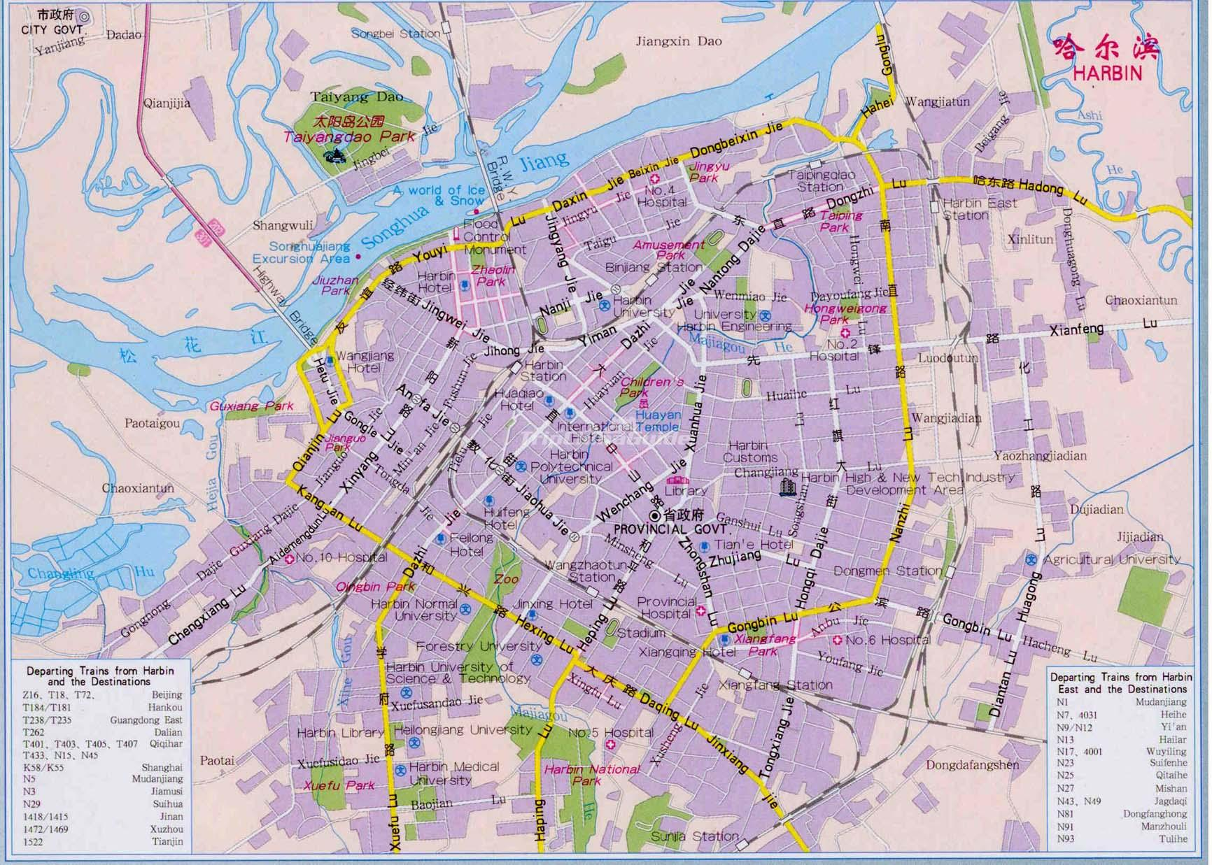 Map of Harbin Maps of Harbin
