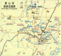 Tourist map of Huangshan City