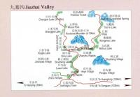 Maps of Jiuzhaigou