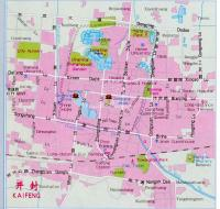 Kaifeng China Map