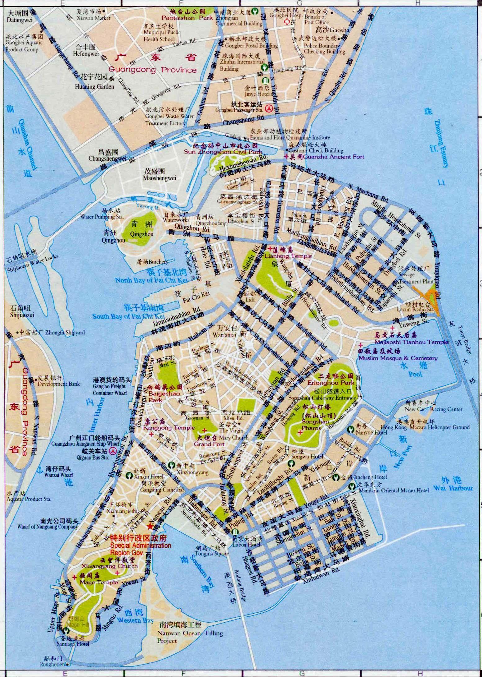 macau map maps of macau