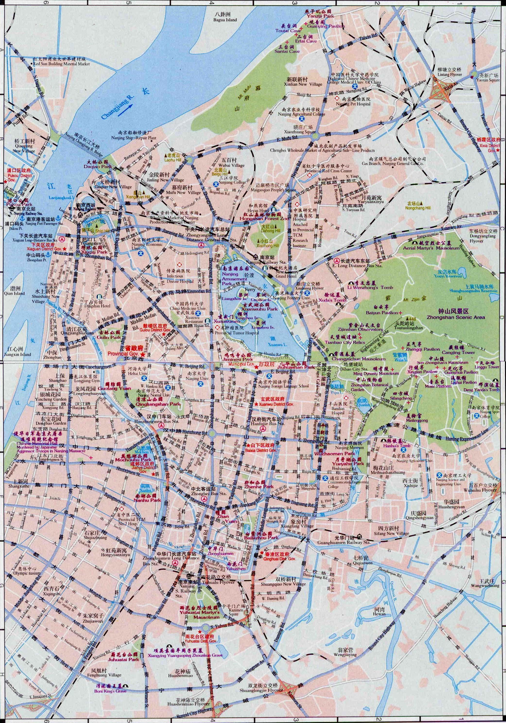 Nanjing China Map Maps Of Nanjing - Nanjing map