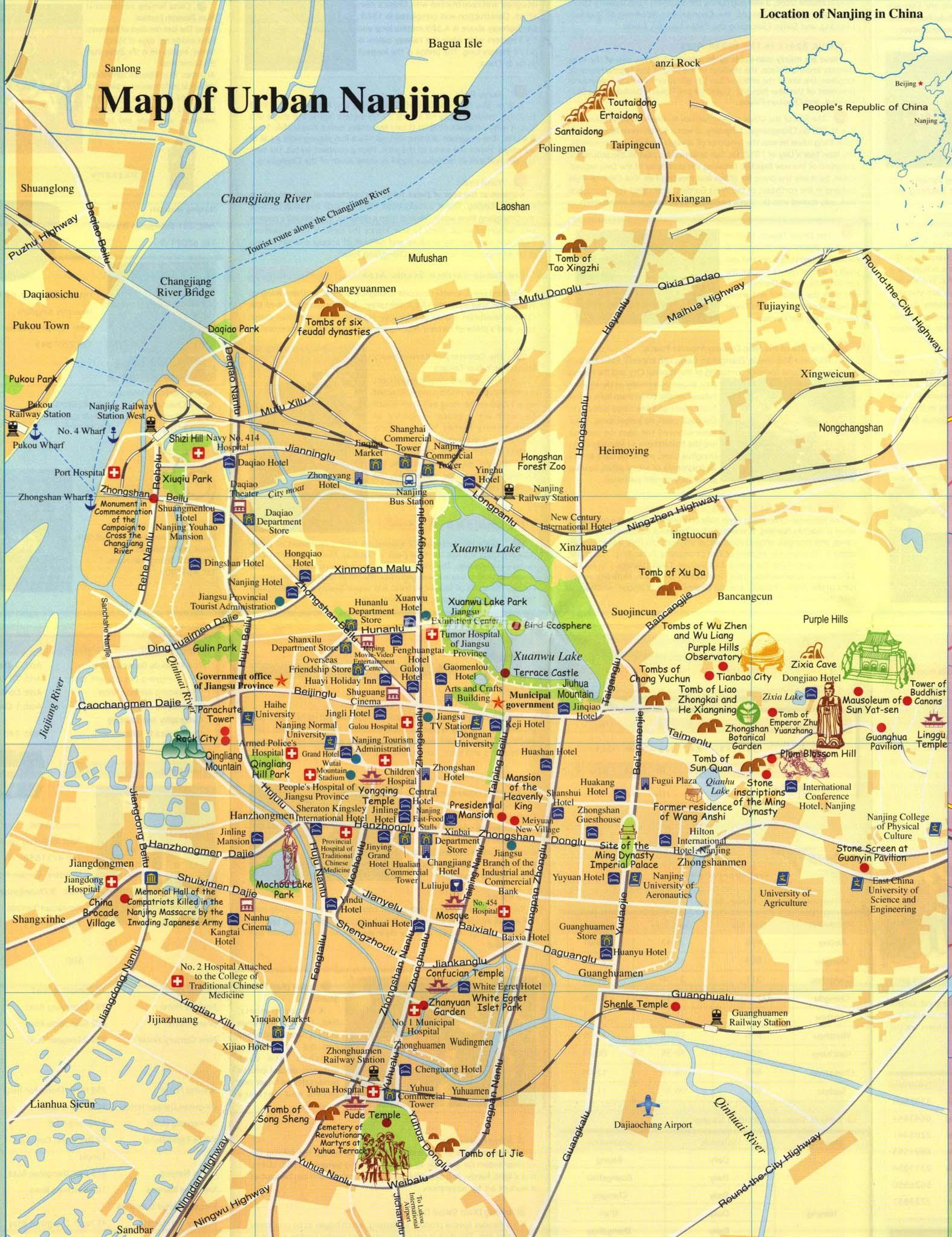 Nanjing City Map Maps Of Nanjing - Nanjing map