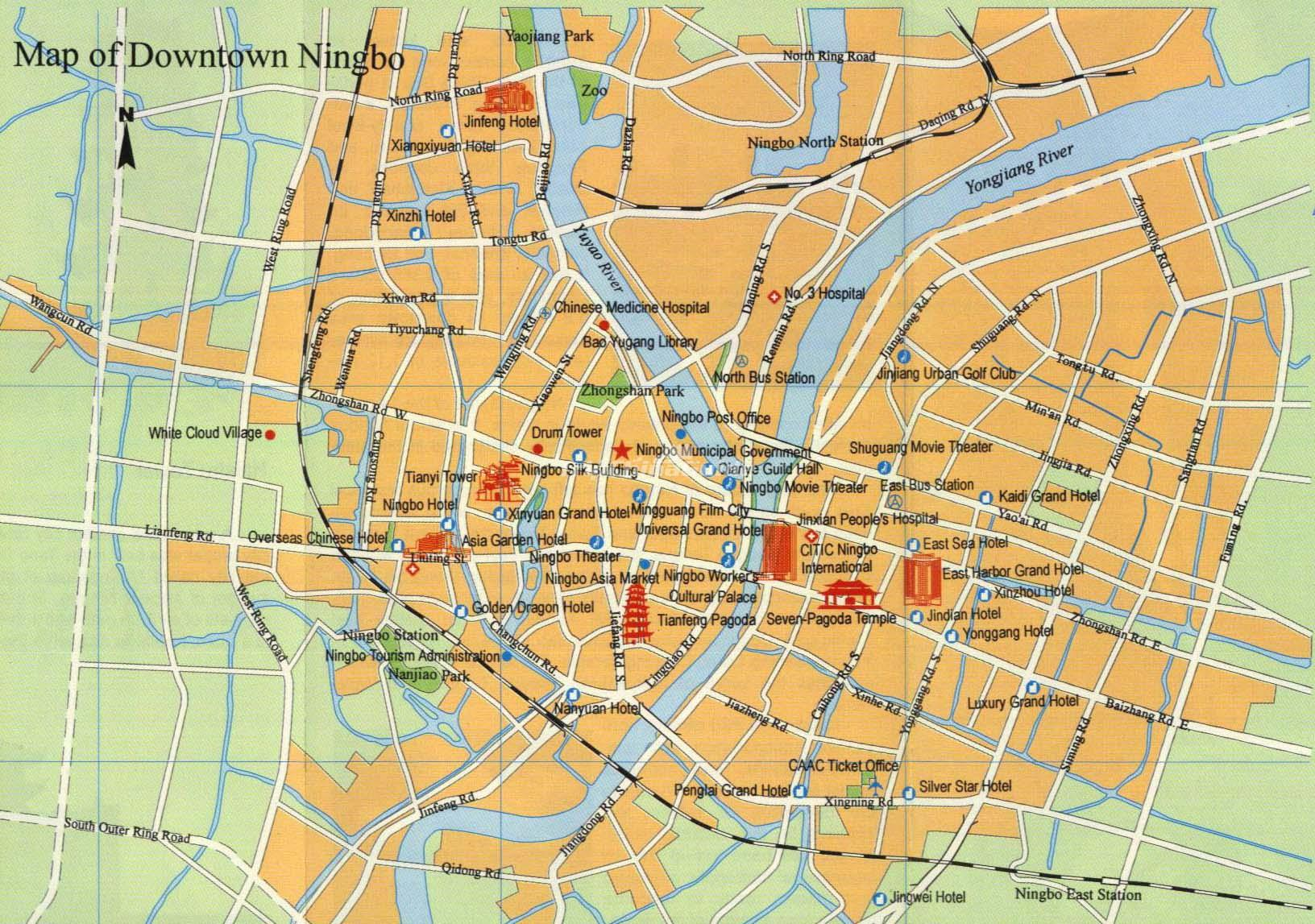Ningbo China Map