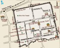 Ping Yao Ancient City Tourist Map