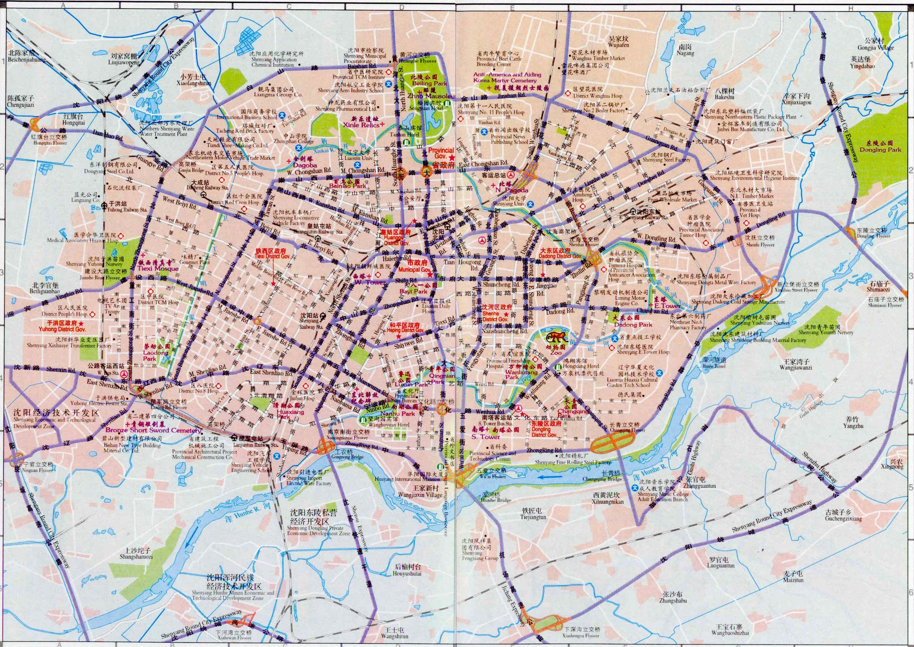 Shenyang China Map