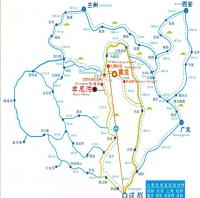 Chengdu to Mounigou Valley Map