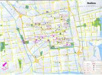 Map of Suzhou City