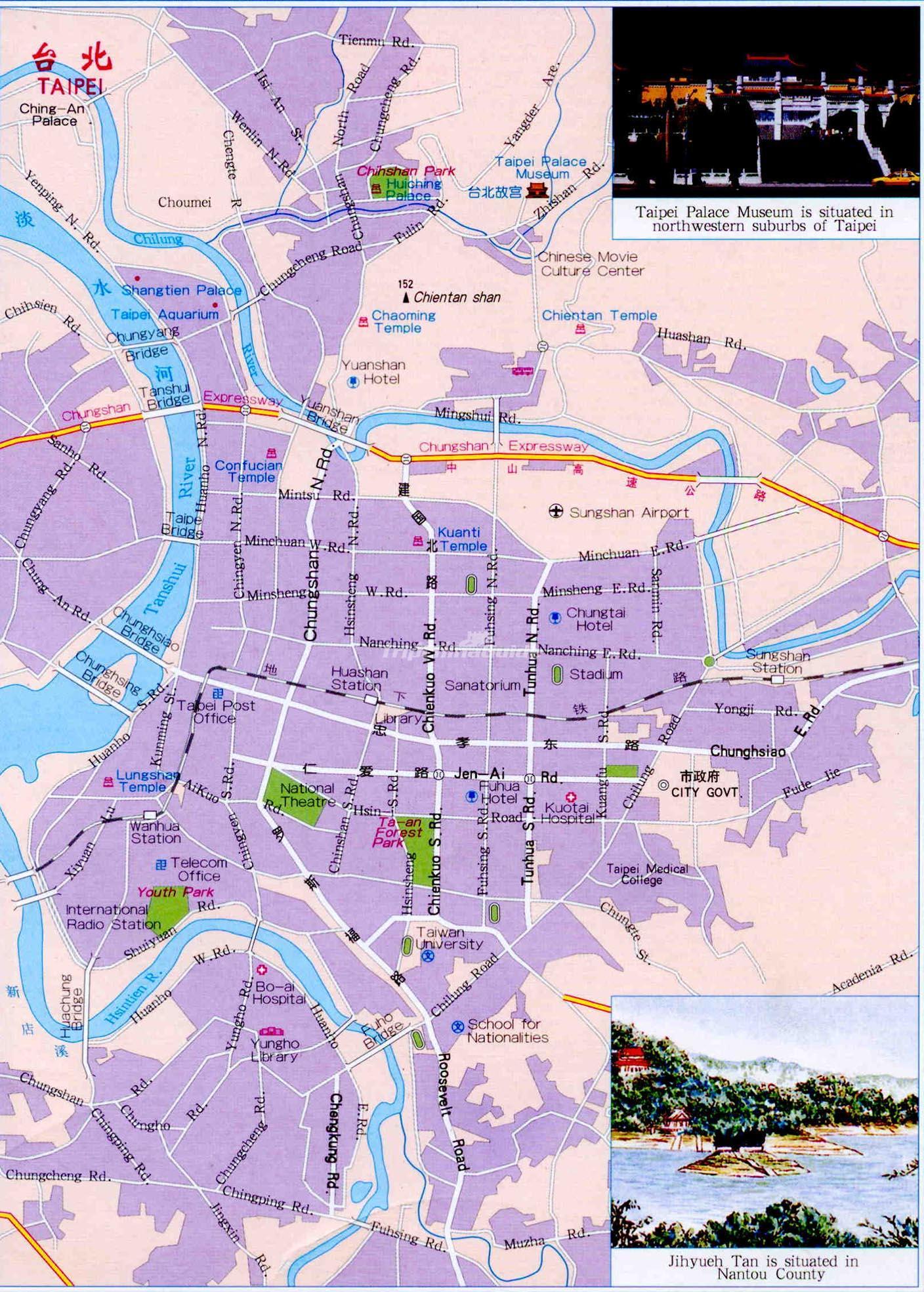 taipei tourist map