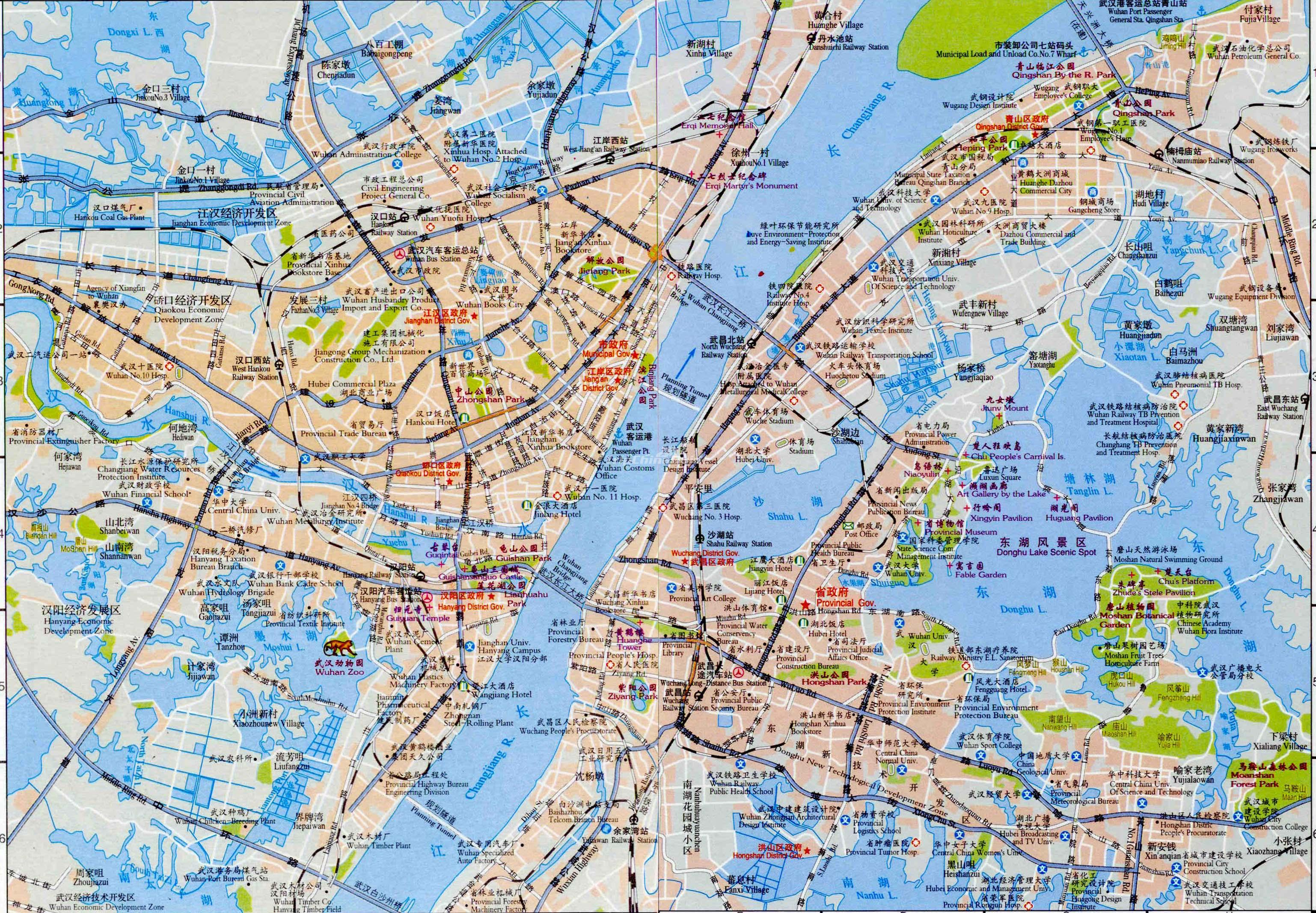 Maps of wuhan wuhan china map gumiabroncs Images