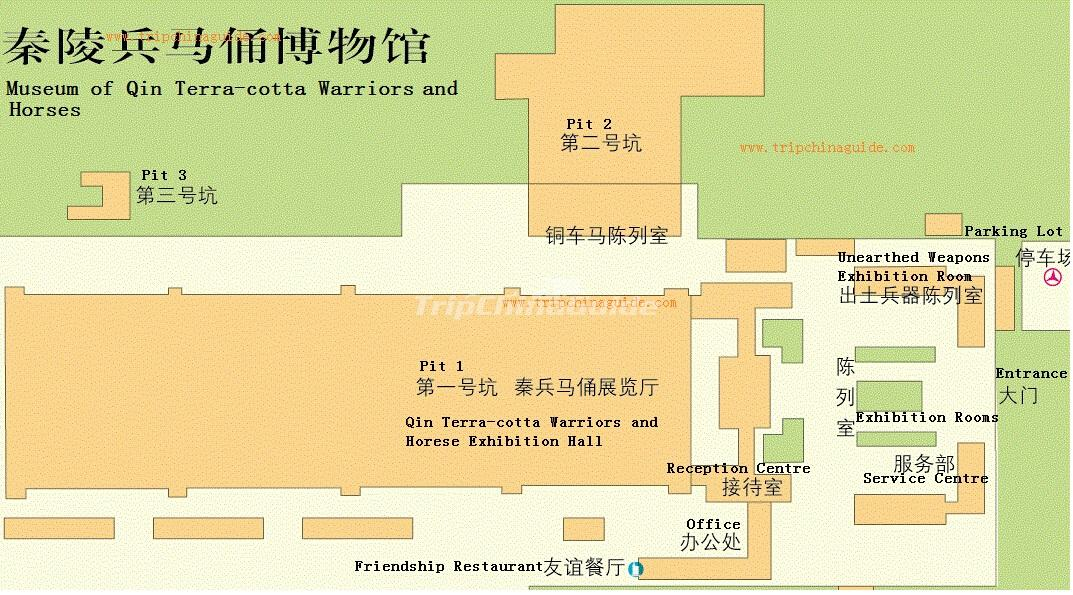 Terracotta Warriors Museum Map Maps of Xian – Xian Tourist Map