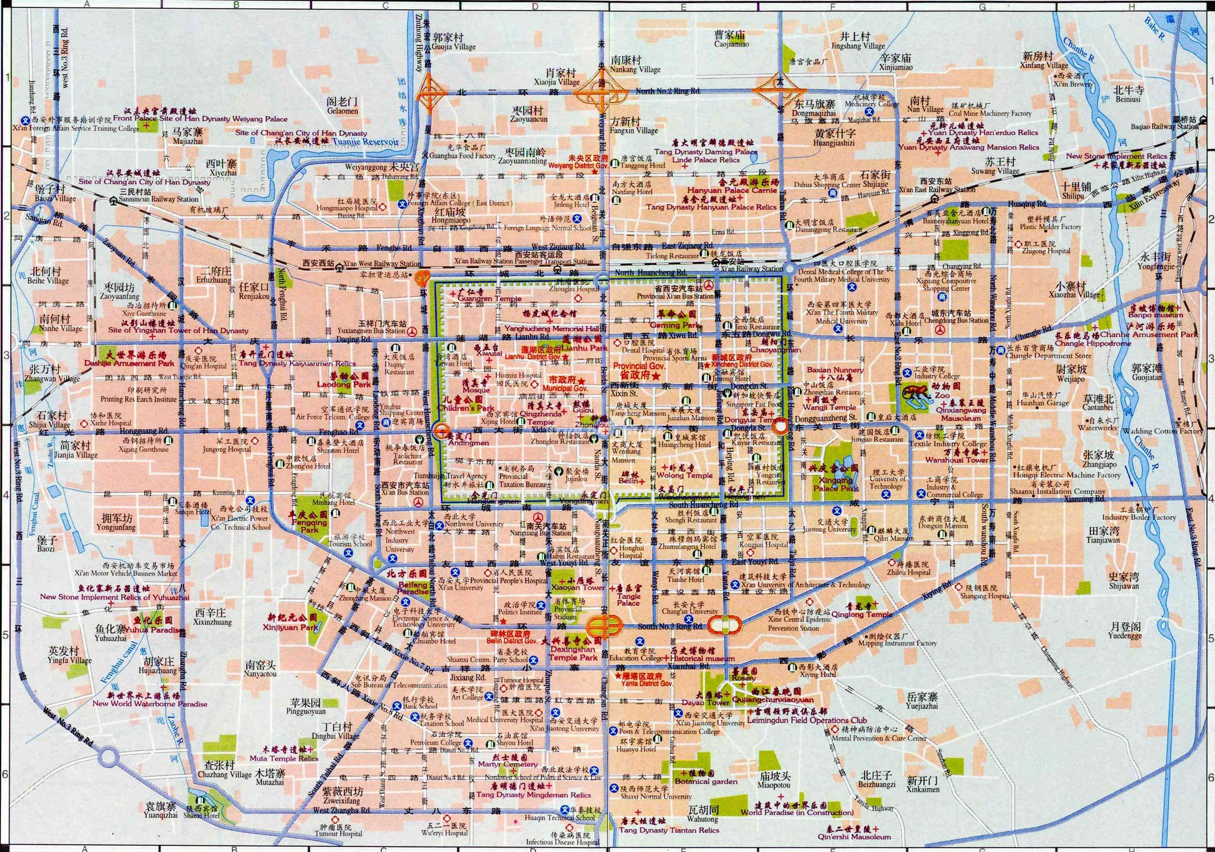 Map Of Xian Maps Of Xi An