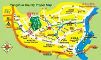 Yangshuo County Proper Map
