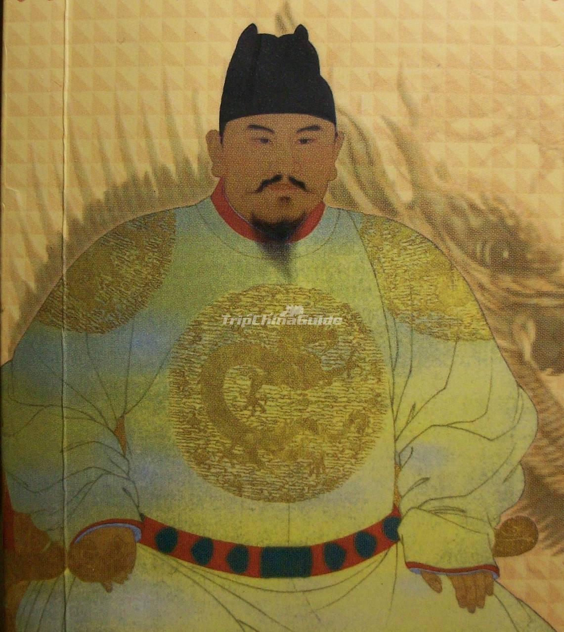 emperor zhu yuan zhang portrait ming dynasty ming
