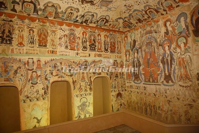 Mogao Caves Well Preserved Fresco China - Dunhuang Caves