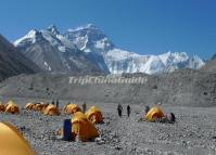 Camping at Mount Qomolangma