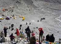 Camping at Mount Everest