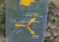Guidepost at Ping'an Village Longsheng