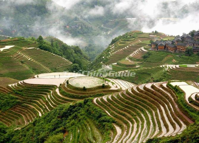 Longji rice terrace with water longsheng longsheng ping for Terraces opening times
