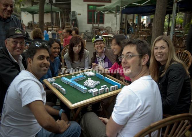 People playing mahjong