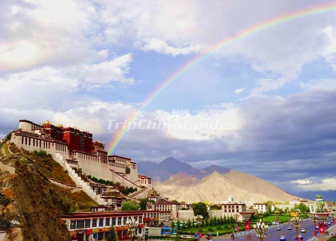 Potala Palace and Rainbow