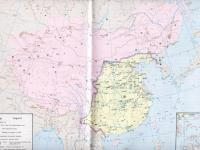 Qin Dynasty Chinese Map