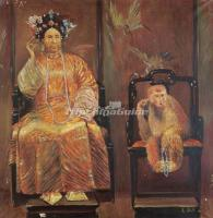 Oil Painting of Empress Dowager Cixi Qing Dynasty