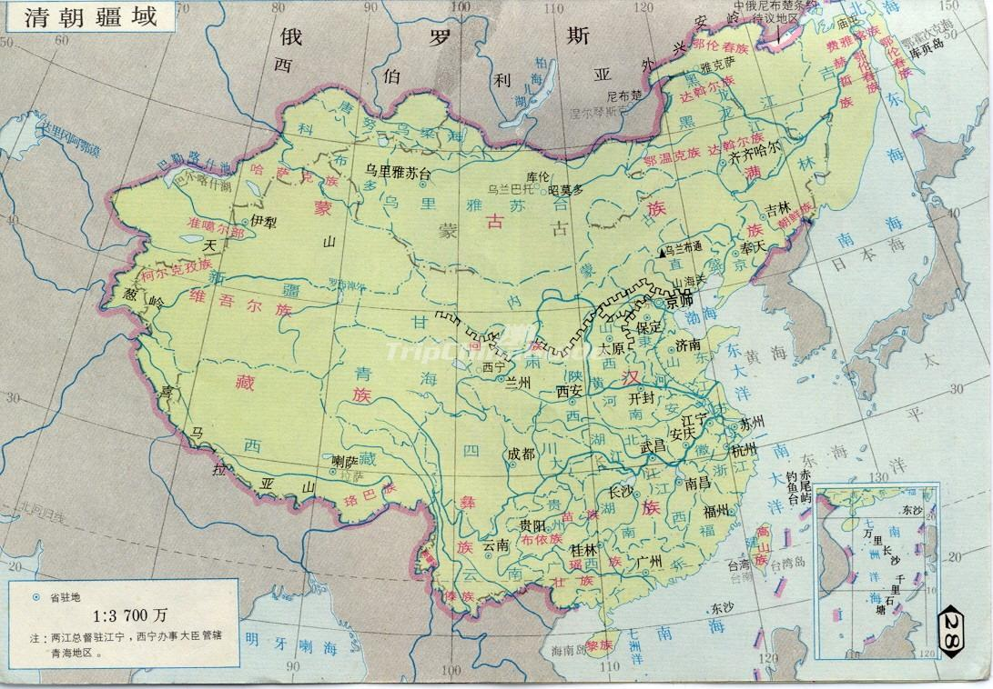 Qing Dynasty Map qing dynasty map -english - qing dynasty pictures ...