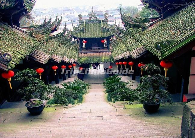 Ancient Buildings in Qingcheng Mountain Chengdu