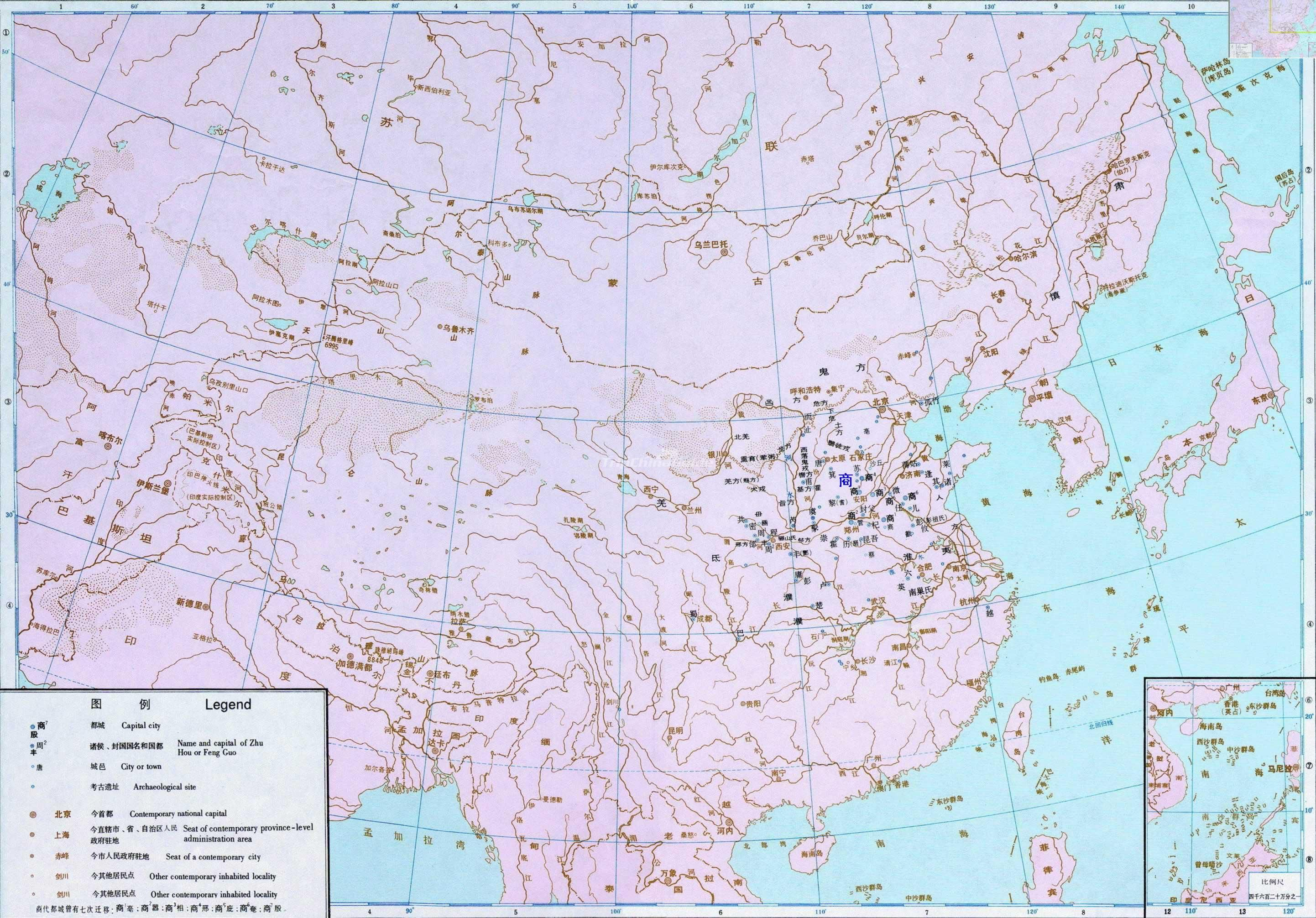 Shang Dynasty Chinese Map - Shang Dynasty Pictures, Chinese ...