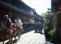 Riding at Shuhe Ancient Town Lijiang