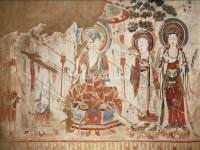 A Mural in a Cave on Silk Road