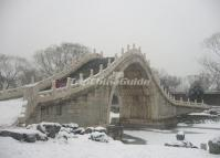 Summer Palace Jade Belt Bridge in Snow