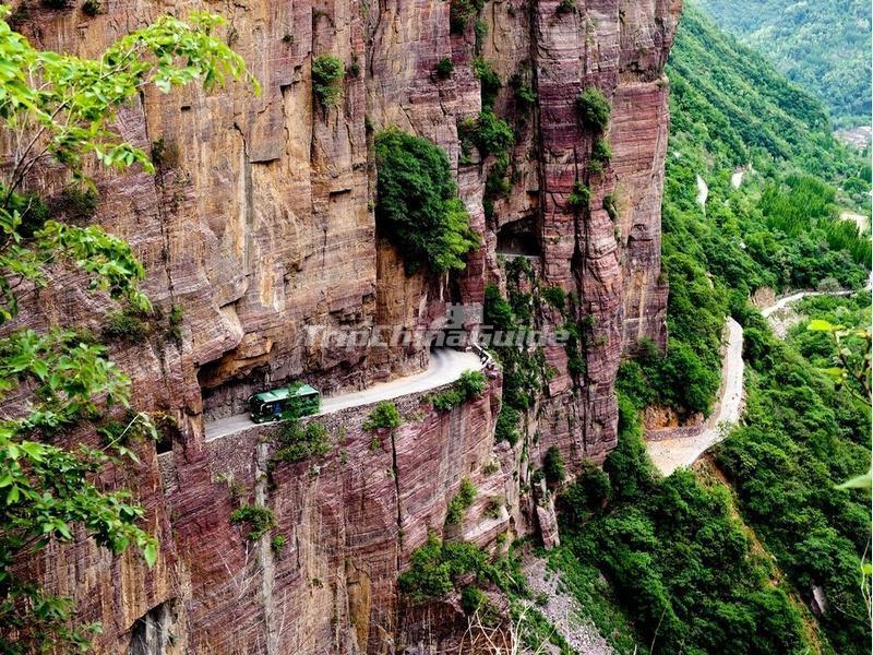 The Guabi Highway In Taihang Mountains China Taihang