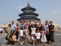 Tourists in Temple of Heaven Park