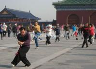 Taijiquan Exercise in Beijing Temple of Heaven