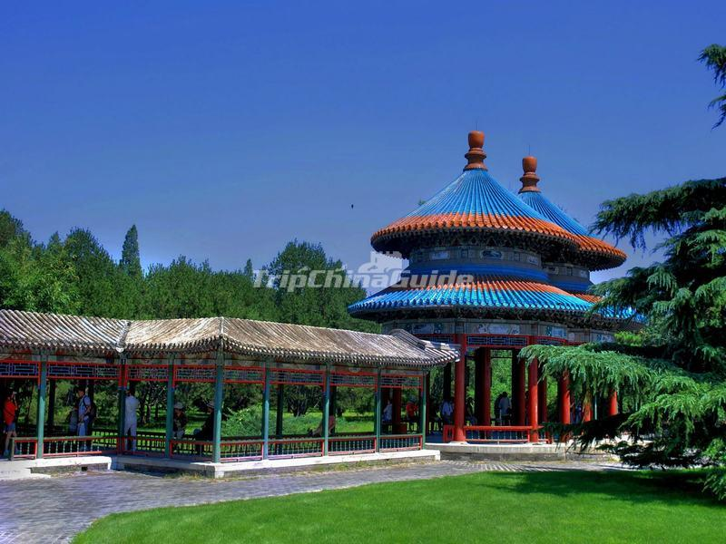The Double-Circle Longevity Pavilion in Temple of Heaven, Beijing