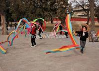 The Old Women Are Doing Morning Exercise in Temple of Heaven